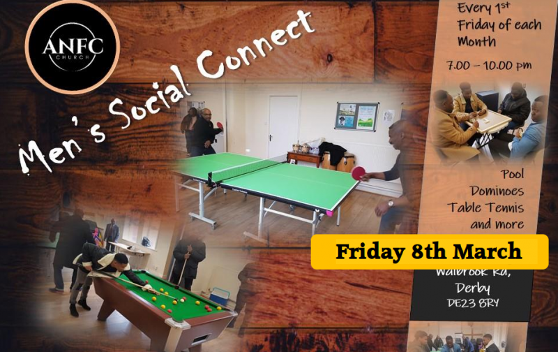 Men's Social Connect 7.00-10.00pm